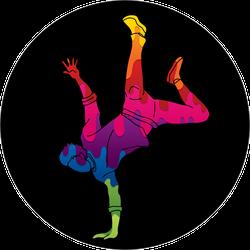 Colorful Graffiti Street Dancer On Hand Sticker
