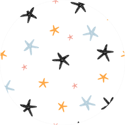 Colorful Hand Drawn Pattern With Starfish Sticker