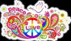 Colorful Hippie Explosion Sticker