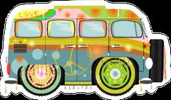 Colorful Hippie Van Sticker