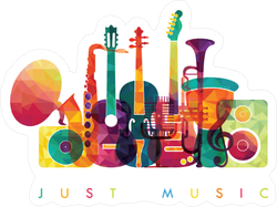 Colorful Just Music Sticker