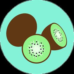 Colorful Kiwi Sticker