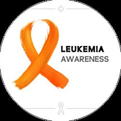 Colorful Leukemia Cancer Awareness Ribbon Sticker