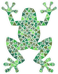 Colorful Mosaic Frog Sticker
