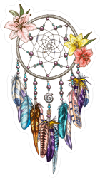 Colorful Native Indian Symbol Dream Catcher Sticker