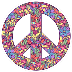 Colorful Peace Sign Sticker