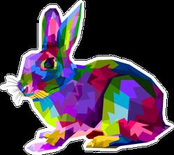 Colorful Rabbit On Pop Art Style Sticker
