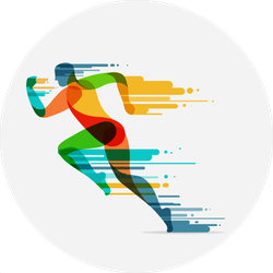 Colorful Runner Sticker