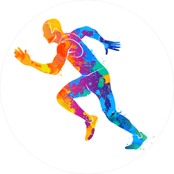 Colorful Running Sprinter Athlete Sticker