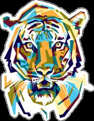 Colorful Tiger Sticker