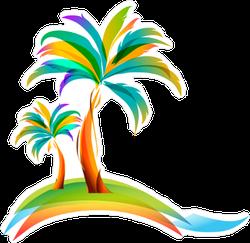 Colorful Vector Illustration Sticker