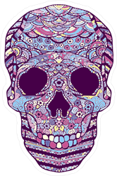 Colorful Zentangle Skull Sticker