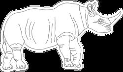 Coloring Book Rhino Sticker