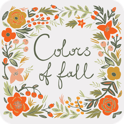 Colors Of Fall Sticker