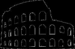 Colosseum Silhouette Sticker