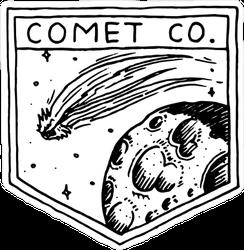 Comet Company Shield Sticker