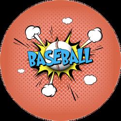 Comic Bang With Expression Text Baseball Sticker