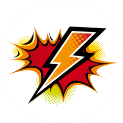 Comic Lightning Flash Sticker
