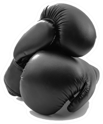 Competitive Sports Black Boxing Gloves Sticker
