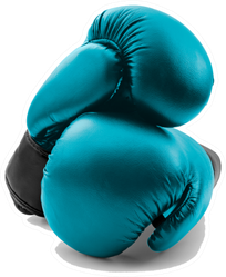 Competitive Sports Blue Boxing Gloves Sticker