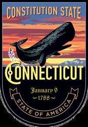 Connecticut Banner Sticker