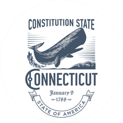 Connecticut Constitution State Sticker