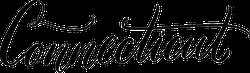 Connecticut Hand-Written Text Sticker