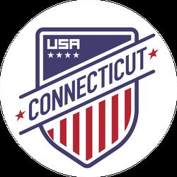 Connecticut Shield Sticker