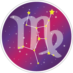 Constellation Of Virgo Circle Sticker
