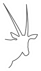 Continuous Line Drawing Antelope Symbol Sticker