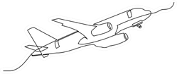 Continuous Line Drawing Two Boys Play With Plane Sticker