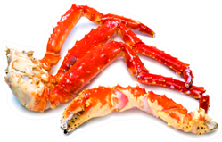 Cooked Organic Alaskan King Crab Legs Sticker
