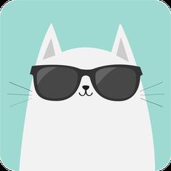 Cool Cat Sticker