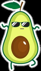 Cool Dancing Avocado Sticker