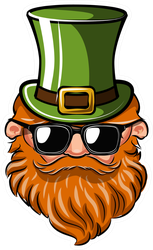 Cool Leprechaun Sticker