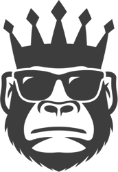 Cool Monkey In Sunglasses And Crown Sticker