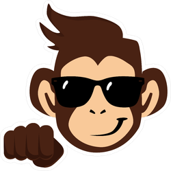 Cool Monkey With Glasses Sticker