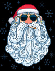 Cool Santa Claus Sticker