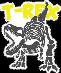 Cool T-Rex Fossil Illustration Sticker