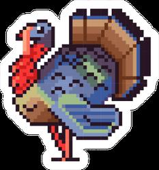 Cool Turkey Pixel Art Style Sticker