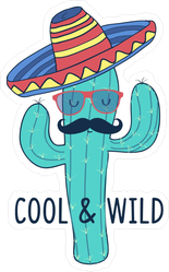 Cool & Wild Cactus Sticker