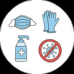 Coronavirus Medical Icons Sticker