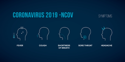 Coronavirus Symptoms Infographic Sticker