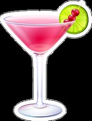 Cosmopolitan Realistic Cocktail Sticker