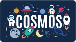 Cosmos Space Icons Sticker