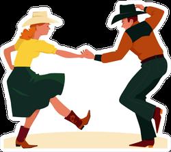 Country Western Dancers Sticker