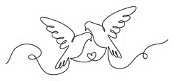 Couple Of Dove Birds In Love Sticker
