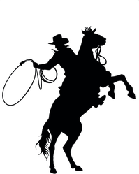 Cowboy And Horse Sticker