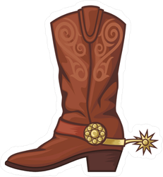 Cowboy Boot Sticker
