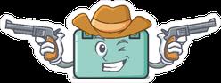Cowboy Suitcase Sticker